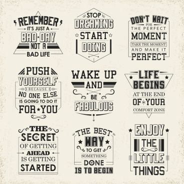 39582916 - life quotes set isolated on beige background