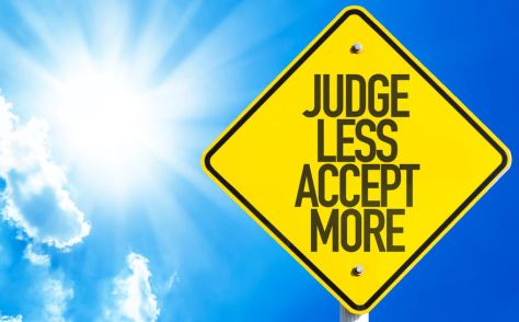 61396628 - judge less accept more sign with sunny background
